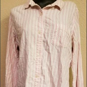Pink Victoria's secret Button up Shirt Top medium